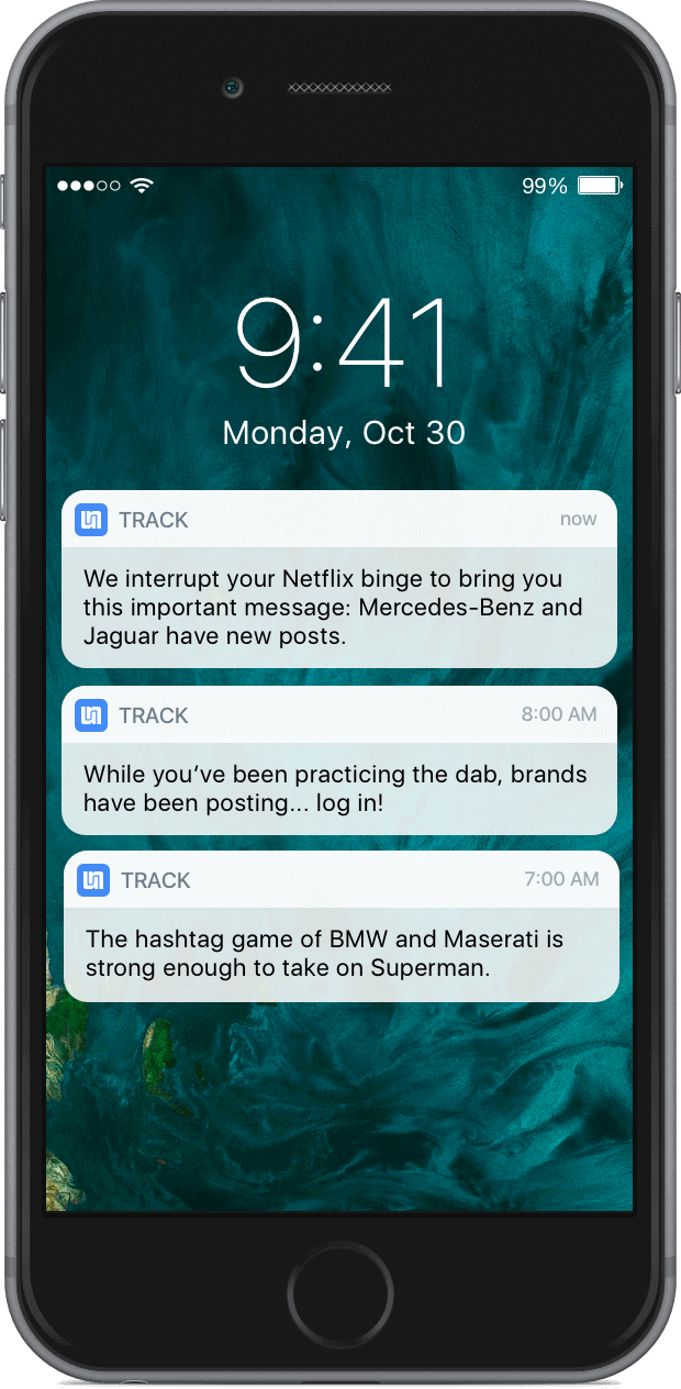 Track Mobile Screen Shot